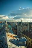 城市里加屋顶 免版税库存图片