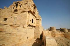 城市金黄印度jaisalmer 库存照片