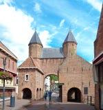 城市门在阿莫斯福特,荷兰 免版税库存照片