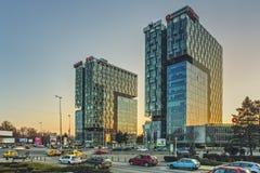 城市门塔,布加勒斯特 库存图片