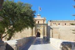城市门姆迪纳,马耳他 免版税库存图片
