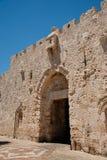 城市门耶路撒冷老s zion 免版税库存照片