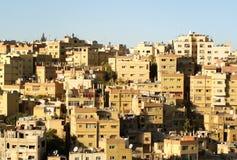 城市阿曼,约旦建筑学  免版税库存照片