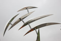 城市雕塑在芜湖神山庭院(芜湖,瓷)里 免版税库存图片
