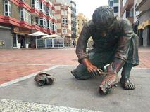 城市雕象 免版税图库摄影