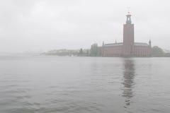 城市雾大厅 库存照片