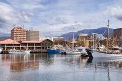 城市霍巴特塔斯马尼亚岛 免版税图库摄影