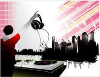 城市音乐向量 库存照片