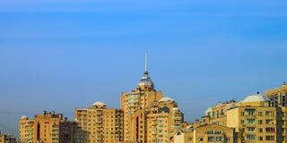 城市顶房顶风景 免版税图库摄影
