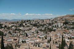 城市顶视图 库存照片