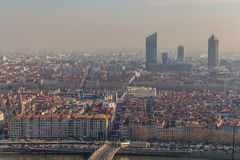 城市风景在市利昂 免版税图库摄影