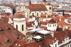 城市风景在布拉格,欧洲 免版税库存图片