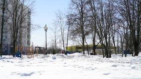 城市风景在晴朗的冬日在莫斯科,俄罗斯 影视素材