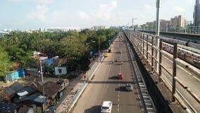 城市风景铁路建设中 库存图片