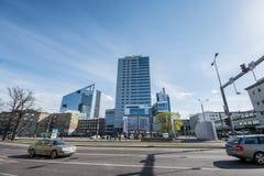 城市风景,塔林,爱沙尼亚 库存照片