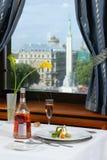 城市餐馆 免版税库存图片