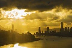 城市香港地平线 免版税库存照片
