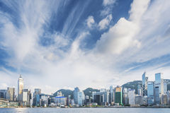 城市香港地平线 库存照片