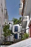 城市马拉加mijas白色 图库摄影
