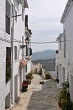 城市马拉加mijas mouantain视图白色 库存图片