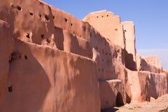 城市马拉喀什老墙壁 免版税图库摄影