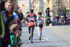 城市马拉松在布拉格 免版税库存图片