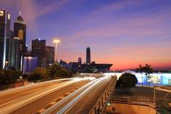城市高方式铜锣湾,格洛斯特Rd 库存照片