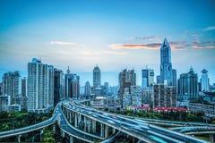 城市高速公路天桥 库存图片
