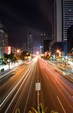 城市高速公路晚上 免版税库存图片
