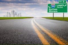 城市高速公路营销 免版税库存图片