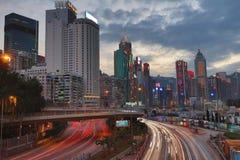 城市高速公路铜锣湾, 库存图片