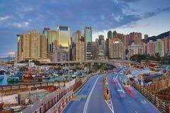 城市高速公路铜锣湾, 免版税图库摄影