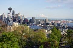 城市鲜绿色西北西雅图 免版税库存图片