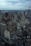 城市黄昏纽约 免版税库存照片