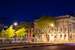 城市黄柏爱尔兰晚上 库存照片