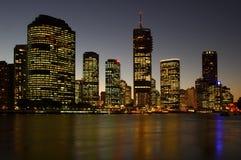 城市黑暗 库存照片