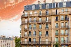 城市,在大厦的都市看法在Paris.France。 免版税图库摄影