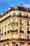 城市,在大厦的都市看法在Paris.France。 库存图片