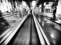 城市,长的老化,迷离,自动扶梯 免版税图库摄影
