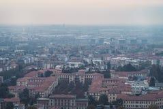 城市从上面 图库摄影