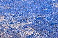城市延伸鸟瞰图  库存图片