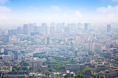 城市巴黎全景  免版税库存照片