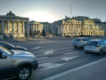 城市总统华沙宫殿  库存照片