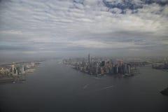 城市 在视图之上 免版税库存照片