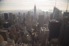 城市 在视图之上 图库摄影