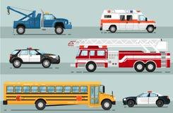 城市紧急运输隔绝了集合 向量例证