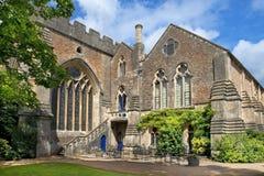 城市巴恩的中世纪风景,萨默塞特,英国 免版税库存图片