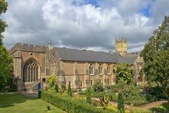 城市巴恩的中世纪风景,萨默塞特,英国 图库摄影