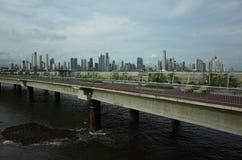 城市巴拿马地平线 库存图片