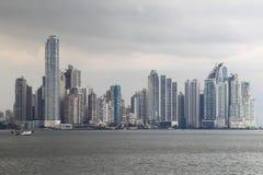 城市巴拿马地平线 免版税库存照片